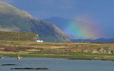 Rainbow in Kilchoan, Scotland