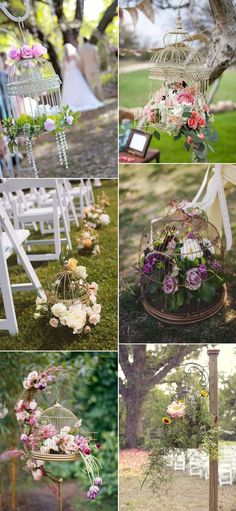 Shabby Chic Birdcage Wedding Theme Inspired Aisle Decor Ideas