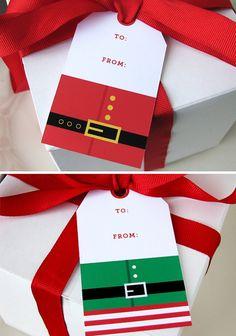 Christmas Gift Tag  Christmas Tag  Printable  Santa by EllisonReed, $7.00