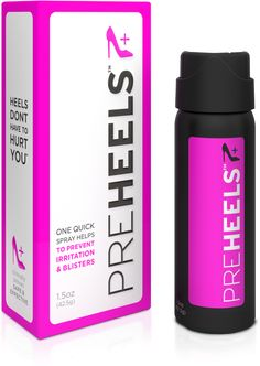 HEELS dont have to hurt you PreHeels creates a strong, lasting, invisible barrier on the skin to protect your feet from irritation and blisters.