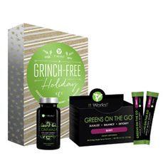 Grinchfree Holiday | It Works!®  Holiday stress have you feeling like an overworked elf? Prevent those Grinch-like moments with a one-two punch to boost your energy and help fight all the stress the season throws at you.