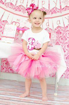 Pink Piggy Birthday Tutu Outfit