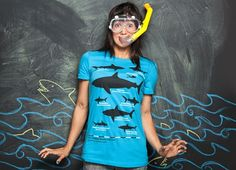 """""""The Deadliest Sharks of All Time"""" - Threadless.com - Best t-shirts in the world"""