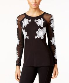 INC International Concepts Embroidered Illusion Top, Only at Macy's $54.99 Illusion sleeves and embroidered details make this top by INC International Concepts a chic must-have.