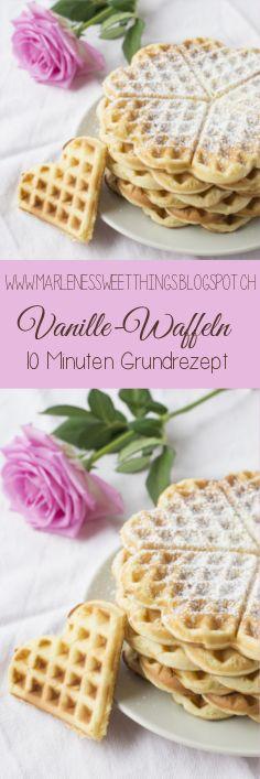 Vanillewaffeln - vanilla waffles