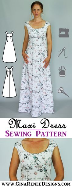LOOOOVE this Maxi Dress Sewing Pattern by Gina Renee Designs