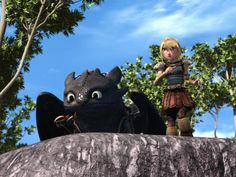 Astrid and Toothless are really worried for that new Hiccup's flight suit < Pretty sure worrying about Hiccup has become a common thing for them over the years. Lol.