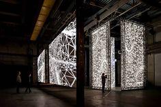 Interactive Light Installation at STRP Biennale Joanie Lemercier & James Ginzburg