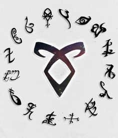 "Mortal Instruments/Infernal Devices Alphabet "" R→ Runes """