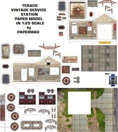Miniature Printables - Texaco Service Station                              …