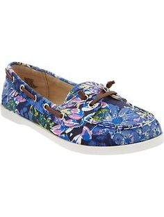 Women's Canvas Boat Shoes | Old Navy
