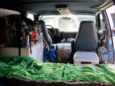 inside astro van camper conversion small camper5