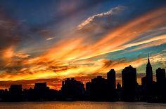 Tonight's stunning sunset silhouette in #NYC.