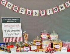 Idea for teen birthday party - movie night