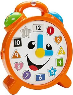 How will baby pass the time? The Fisher-Price Laugh & Learn Counting Colors Clock provides hours of interactive fun and learning with 75+ sing-along songs words & phrases. By pressing the buttons on ...