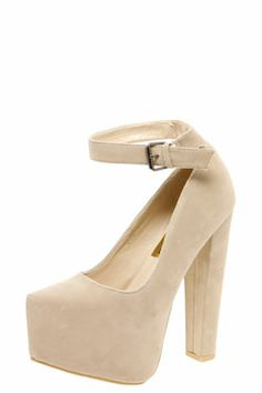 b0c04646c73a Amie Ankle Strap Block Heel Platforms