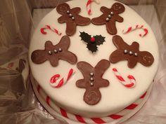 Gingerbread man Xmas cake