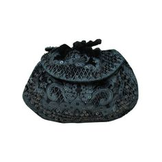 Gallenga Stenciled Velvet Art Deco Evening Bag ❤ liked on Polyvore