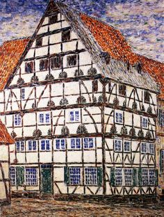 Freiligrath Haus in Soest painting Christian Rohlfs   Oil Painting Reproduction