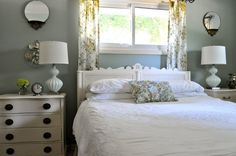 Paint the furniture white in the guest room.  I like the bright green accent color.  Woul use more.