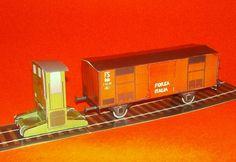 FS 207 Sogliole with Type F Wagon Free Train Paper Model Download