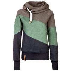 Color Block Heaps Collar Long Sleeve Sweatshirt found on Polyvore featuring tops, hoodies, sweatshirts, sweaters, sweatshirt, shirts, blue hoodies, sweatshirts hoodies, blue sweatshirt and long sleeve tops