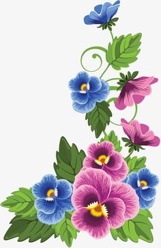 Variety of Films for Decoupage; can get pdf copy from source Art Floral, Fabric Paint Designs, Illustration Blume, Flower Alphabet, One Stroke Painting, Flower Wallpaper, Fabric Painting, Pansies, Flower Designs