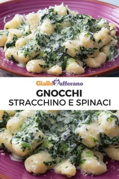 Gnocchi con stracchino e spinaci: un primo piatto dalla cremosità irresistibile. Gustoso e semplicissimo da preparare, è perfetto in ogni occasione! #gnocchi #dumpling #cheese #spinach #primopiatto #easy #ricetta #italian #food [Easy italian gnocchi with cheese and spinach recipe]