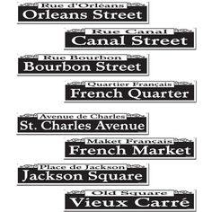 Mardi Gras Street Sign Cutouts