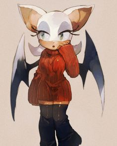 e621 anthro aoki6311 bat big_ears clothed clothing eyelashes female fur green_eyes hair legwear mammal open_mouth pointy_ears rouge_the_bat simple_background socks solo sonic_(series) sweater tan_skin turtleneck white_background white_fur white_hair wide_hips wings