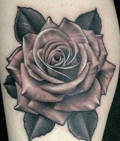 Rose Drawing Tattoo, Realistic Rose Tattoo, Rose Tattoo Forearm, Tattoo Sketches, Tattoo Drawings, Rose Tattoo Stencil, Floral Thigh Tattoos, Black Rose Tattoos, Flower Tattoo Designs