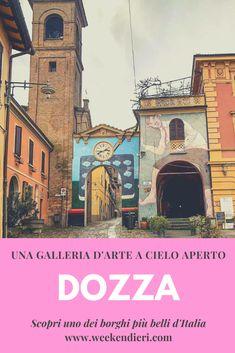 Cosa vedere a Dozza, uno dei borghi più belli d'Italia in provincia di Bologna. Una galleria d'arte a cielo aperto! Scopri Dozza in questo articolo #dozza #dozzabologna #dozzaitaly #borghipiùbelliditalia @iweekendieri