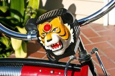 Pee-Wee Herman Bicycle Tiger Head Toy Siren 70's-80's | Rat Rod Bikes