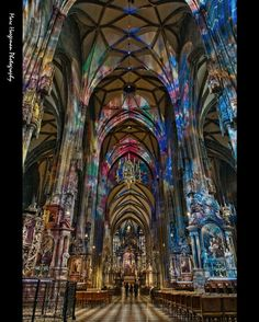~Viennese colors~ Interior of the gothic Stephansdom (14th-15th century) in Vienna (Austria). Photo by Marc Haegeman