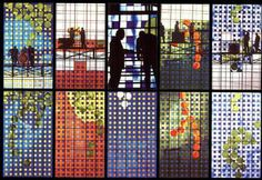 Rio Norte Shopping - Brian Clarke Stained Glass Panels, Stained Glass Art, Glass Ceramic, Mosaic Glass, Glass Design, Public Art, Abstract Expressionism, Color Inspiration, Tapestry