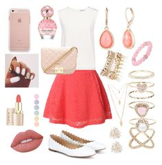 """""""Spring dance"""" by pitcher04 ❤ liked on Polyvore featuring LE3NO, Finders Keepers, Chloé, Vintage America, Palm Beach Jewelry, River Island, Accessorize, Forever 21, Cara and Lime Crime"""