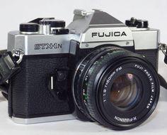 Fujica STX-1N 35mm SLR Camera w/ X-Fujinon 50mm Lens & Case