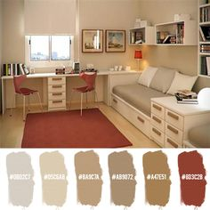 bedroom, office, can piece together IKEA items Home Office Design, Interior Design Living Room, Living Room Designs, Interior Decorating, Bureau Design, Paint Colors For Living Room, Room Paint, Bohinj, Design Apartment