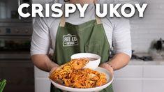 Filipino Appetizers, Filipino Food, Filipino Recipes, Okoy Recipe, Shrimp Fritters, Red Chili, Shrimp Recipes, Food Videos, Kitchens
