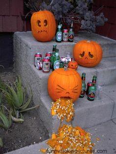Funny Halloween Pumpkin Display