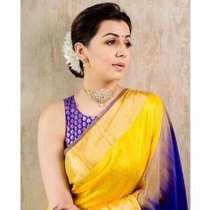 13 Best Contrast Blouse Ideas To Try With Yellow Saree Yellow Saree, Green Saree, Saree Color Combinations, Set Saree, Saree Poses, Stylish Sarees, Saree Look, Saree Blouse Designs, Sari Blouse