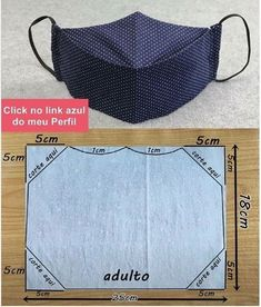 Sewing Hacks, Sewing Tutorials, Sewing Crafts, Easy Face Masks, Diy Face Mask, Mouth Mask Design, Fabric Manipulation, Sewing Projects For Beginners, Diy Mask