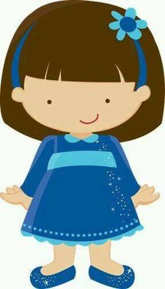 Imagenes para niños   Niña azul