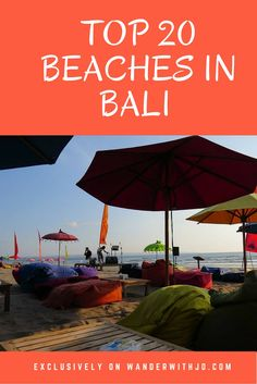 20 of the best beaches in Bali, Indonesia.
