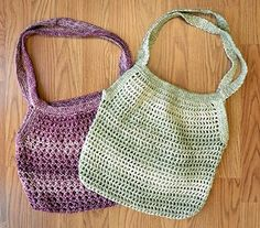 Market Bags Free Pattern to #Knit or #Crochet!