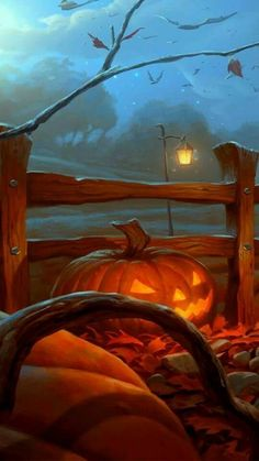 Cropped, flipped, and lightened version of UnidColor's Halloween 2012. That is one devious-looking jack o'lantern! Original here https://unidcolor.deviantart.com/art/Halloween-2012-331236376