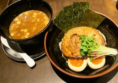 らーめん 時屋 - 西中島 #ヌードル倶楽部 Tsukemen, Ramen, Ethnic Recipes, Food, Meals, Yemek, Windows, Eten