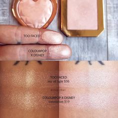 x Coronation (aka Aurora's pressed powder highlighter) is a spot on color match for Ray of Light, for… Make Up Dupes, Colourpop Cosmetics, I Love Makeup, Bling Nails, Too Faced Cosmetics, Design Thinking, Disney, Nail Colors, Aurora