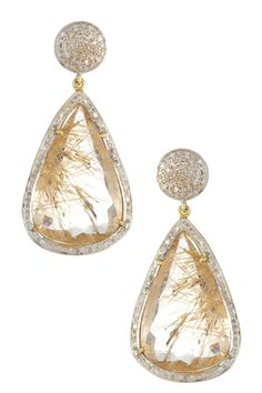 White Diamond Drop Earrings.