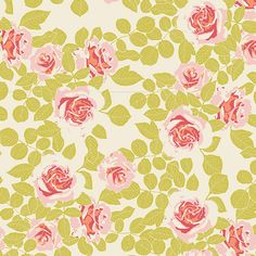 Cultivate Fabric Swatch K-8678 Pruning Roses Citrus
